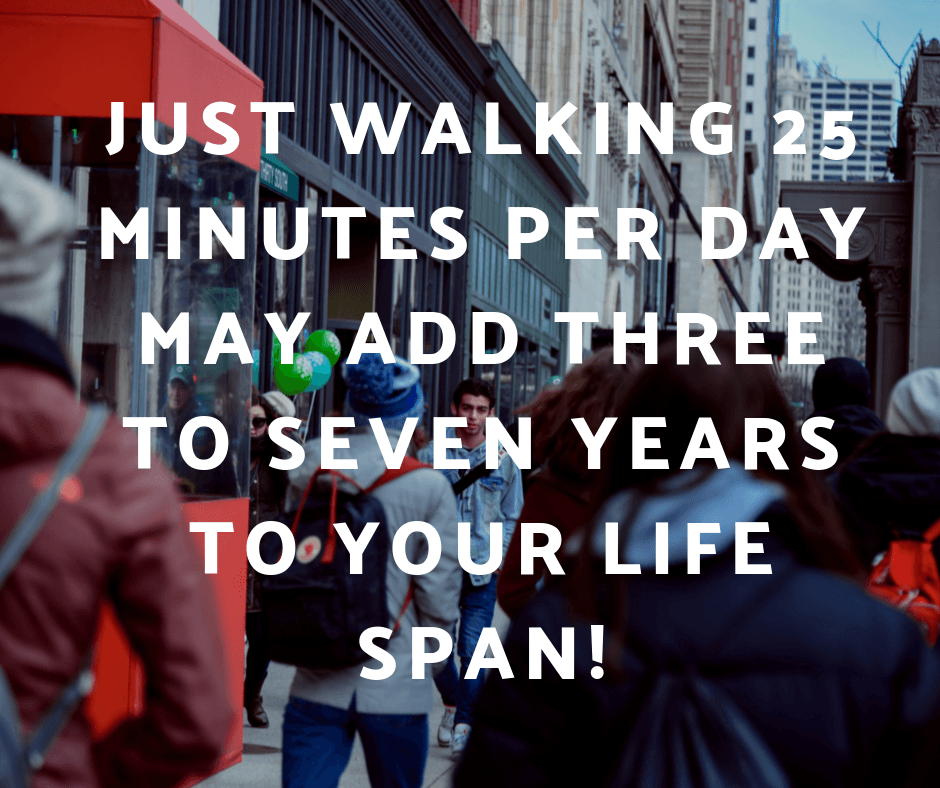 Just walking 25 minutes a day may add 3 to 7 years to your lifespan